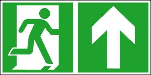 0139. salvavidas Cartel salida de emergencia derecha ...