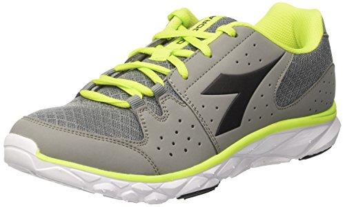 Diadora Hawk 7, Zapatos para Correr para Hombre Gris (Ghiaccio/nero)