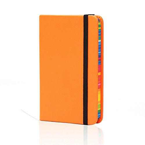 BIOBAY Classic Ruled Travel Notebook | Hardcover Writing Journal and Diary - Premium Lined Paper and Durable Design - 192 pages - Assorted Fluorescent Colors ()