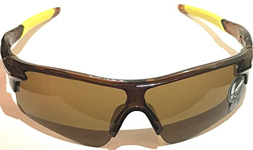 UV400 SUNGLASSES sport golf tennis boating skiing biking cycling auto car beach (brown, - Sunglasses Ball Tennis