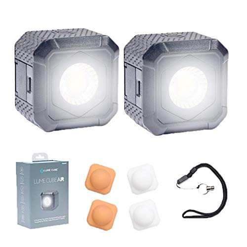 Lume Cube AIR – Two Pack – Magnetic LED Light for Photo, Video, and Content Creation, Waterproof On-Camera LED for Sony, Canon, Nikon, Panasonic, Fuji, Smartphone, GoPro…