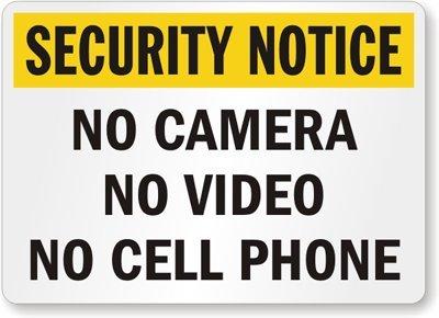 Amazon.com: Aviso de seguridad: sin cámara, sin cámara de ...
