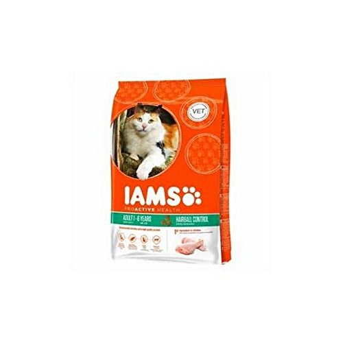 Iams Adult Dry Cat Food Hairball Chicken
