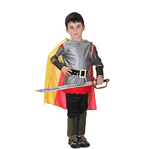 LCMJ WS Halloween Decoration - Cloak Roman Warrior for Boy Kids Full Body Set Birthday Party Stage Performance (Size : L) ()