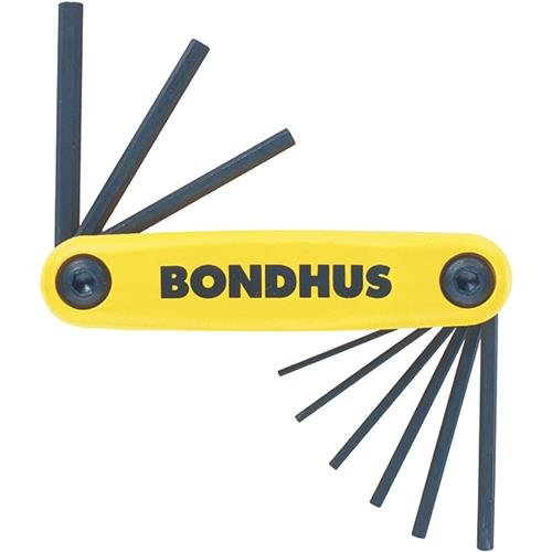 Bondhus H3791 9 pc Fractional 56434-1434 Hex Key Set