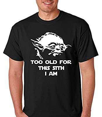 Raw T-Shirt's Jedi Yoda Too Old For This Sith - Funny Yoda Premium Men's T-Shirt