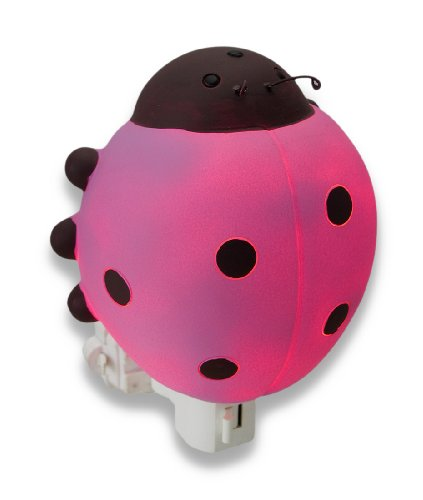 Resin Childrens Night Lights Children`S Pink Ladybug Night Light Nite Lite 4.5 X 4.5 X 2.5 Inches (Mod Ladybug Wall)