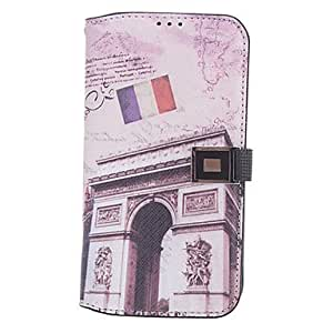 Triumphal Arch PatternFull Body Case with Card Slot for Samsung Galaxy S4 I9500