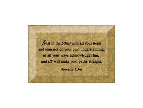 Beveled Glass Plaque (Trust In The Lord Beveled Glass Plaque with Easel)