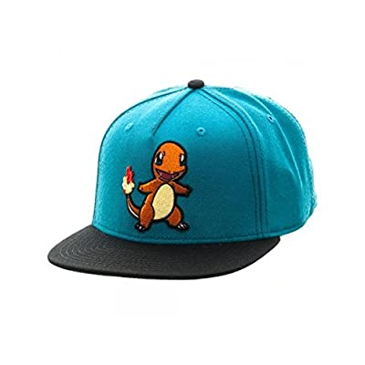 Superheroes Brand Pokemon Charmander Color Block Snapback Hat/Cap By