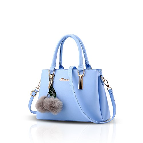 bag messenger casual bag amp;DORISnew handbag fashion PU NICOLE Blue leather shoulder 6SgWH