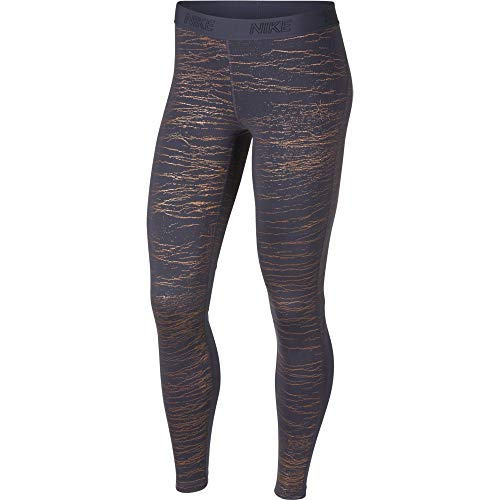 Nike Women's Victory Warm Base Layer Tights (Violet Gridiron, Large) by Nike