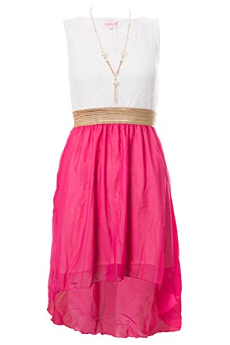 Girls Sleeveless Asymmetrical Chiffon Necklace product image