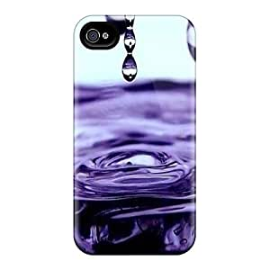 Top Quality Rugged Purple Rain Case Cover For Iphone 4/4s