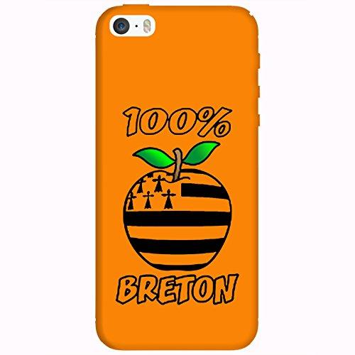 Coque Apple Iphone 5-5s-SE - 100% Breton orange