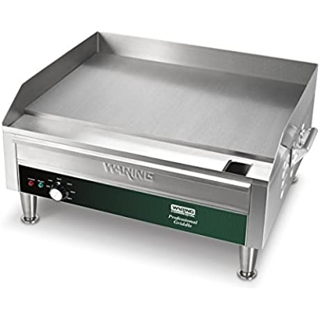 Waring Commercial WGR240X 24 Electric Countertop Griddle Stainless Steel