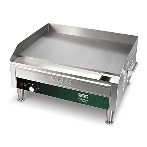 Waring Commercial WGR240X 24'' Electric Countertop Griddle, Stainless Steel by Waring