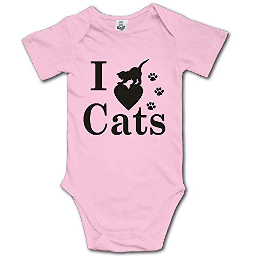 Kyliel 100% Cotton Baby Funny Romper Bodysuit Infant Toddler I Love Black -