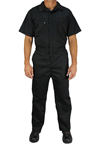 Kolossus Cotton Blend Short Sleeve Coverall (Black, L) ()