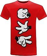 Rock Paper Scissors Cartoon Hands Men's Humor Funny T-Shirt