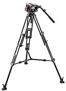 Manfrotto 509HD-545BK - Kit de vídeo (trípode PRO 545B, rótula 509HD), negro