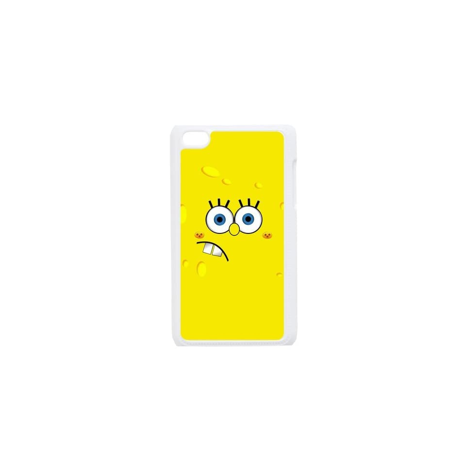 Cartoon SpongeBob SquarePants Personalized Music Case Ipod Touch 4th Case Cover for Ipod Touch 4th Generation IT4SS158