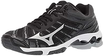Mizuno Women's Wave Voltage Volleyball Shoe, blacksilver, 6 B US