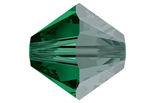 36 pcs Swarovski Crystal Bicone 5301 Beads, Emerald Satin, 6mm