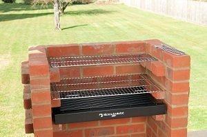 Kit per barbecue in muratura con cremagliera di riscaldamento e