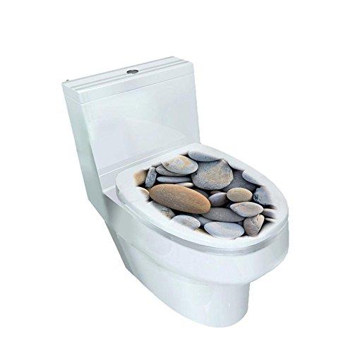 Sticker repositionnable pour abattant de WC - Autocollant décoratif de salle de bain