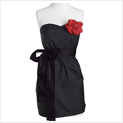Jessie Steele Strapless Apron Black with Red Trims (Jessie Steele Salon Apron compare prices)