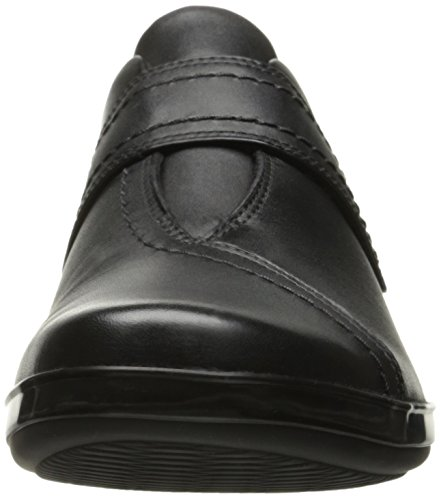 Clarks Womens Everlay Dixey Slip-On Loafer, Black Leather, 7 M US