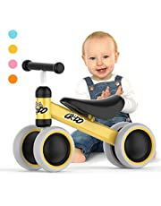 CREDO Sport Baby Balance Bike,No Pedal Infant 4 Wheels Bicycle for 10-24 Month,Toys for 1 Years Old Birthday Gift, Balance Bike for Toddlers