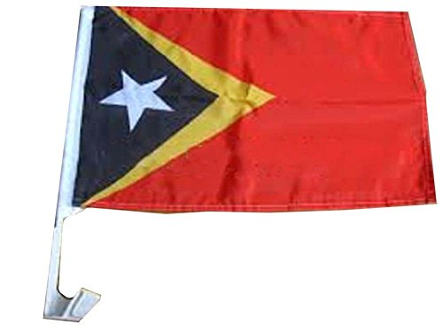 ALBATROS 12 in x 18 in East Timor Leste Country Car Vehicle Flag for Home and Parades, Official Party, All Weather Indoors Outdoors