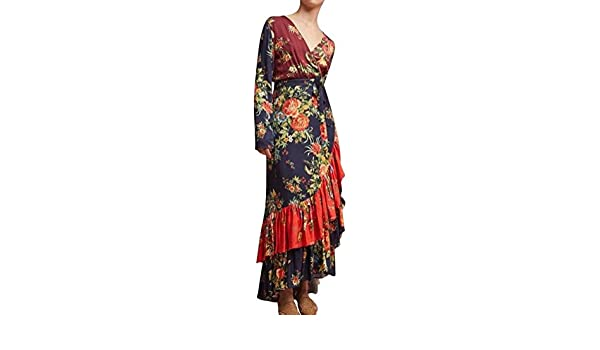228aa391d31 Anthropologie Farm Rio Audrey Wrap Dress 228 Sz XS - NWT at Amazon Women s  Clothing store