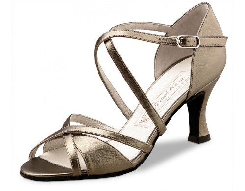Werner Kern Women's July - 2 3/4'' (6.5 cm) Flare Heel, Chevro Antik, 6 M US (3 UK) by Werner Kern