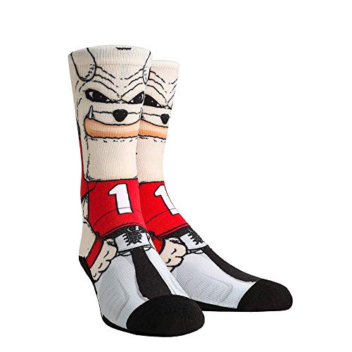 NCAA Super Premium College Fan Socks (L/XL, Georgia Bulldogs - Mascot Hairy Dawg)