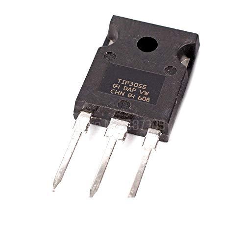 - 10pcs TIP3055 TO-247 Bipolar Transistors - BJT Comp NPN - PNP Epitaxial-Base Trans New Original