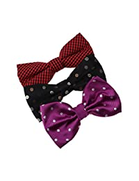 DBE0137 Series For Groomsmen Microfiber Bow ties Presents For Design 3 Pack Bow Tie Set By Dan Smith