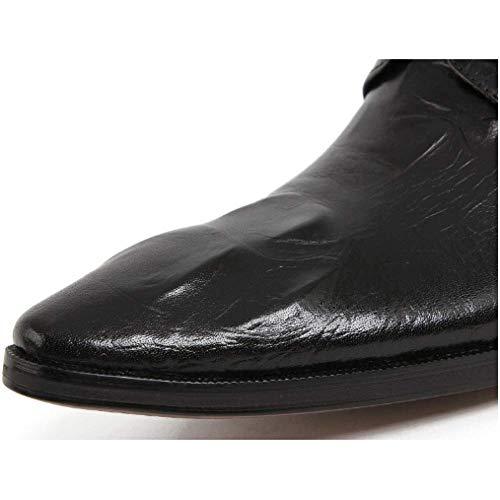 Resistenti all'Usura Tacco Americano da Stivaletti con Inghilterra Stile Winered Europeo A Traspirante Boots con Punta Martin Scarpe Scarpe Scarpe Alto E Lacci Lavoro HxpRpq