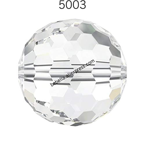 (Pukido 1 Piece of 100% Original Crystal from Swarovski 5003 Disco Ball Beads Loose Beads Stone Retail for Jewelry Making - (Color: Crystal 001, Item Diameter: 6mm))