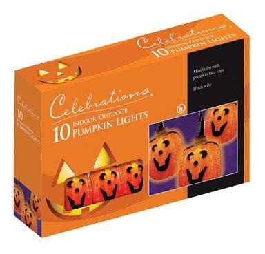 Celebrations Halloween Pumpkin Lights 10 (Color By Numbers Online Halloween)