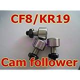 Fevas 1pc 8mm Shaft KR19 CF8 Cam Follower Bearings for 8mm Shaft