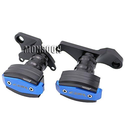 Blue Motorcycle Body Frame Sliders Crash Protector Motorbike Falling Protection For HONDA CBR500R CBR 500R 2013-2015