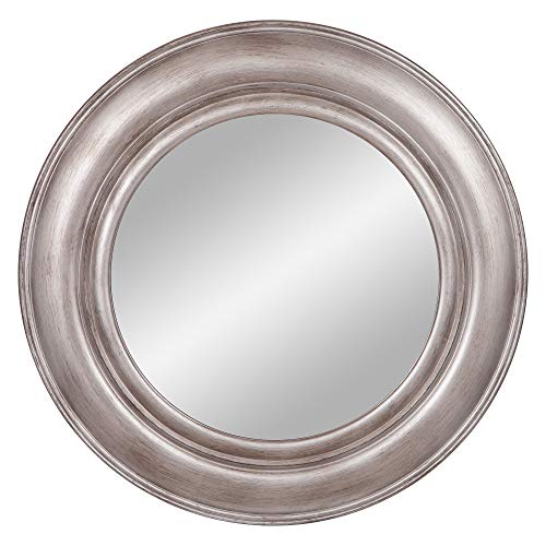 30 Pewter Round Port Hole Wall Mirror
