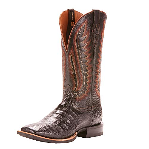 ARIAT Men's Double Down Western Boot Black Caiman Belly Size 11 Ee/Wide Us