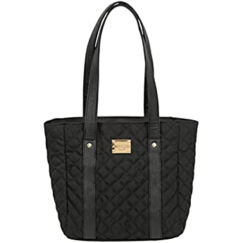 Amazon Com Merangue Quilted Purse Style Lunch Bag Black