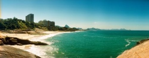 Posterazzi PPI149439S Copacabana Beach with Buildings in The Background Rio de Janeiro Brazil Poster Print, 15 x 6