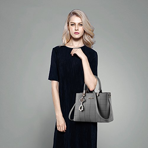 bag BESTOU designer Ladies leather women Grey shoulder for Christmas PU handbags handbags ladies bags 4RwEq6Ef
