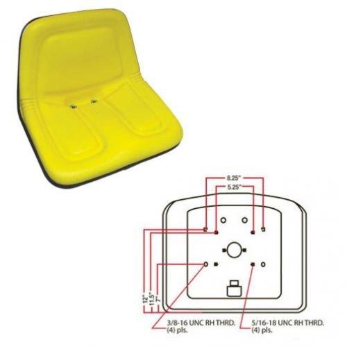 Bucket Seat Deluxe High Back Vinyl Yellow Case Gehl John Deere Kubota New Holland 570 375 L454 L455 4475 L35 L778 L445 L425 B7300 L250 L325 L125 L120 3825 LS125 3375 3510 3310 MG861683 TY15863